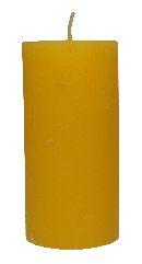 Rustic Zylinderkerze GELB 17 120x60mm durchgefärbt