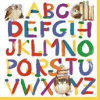 Servietten 33cm Design 371691 Alphabet Buchstaben Schulanfang