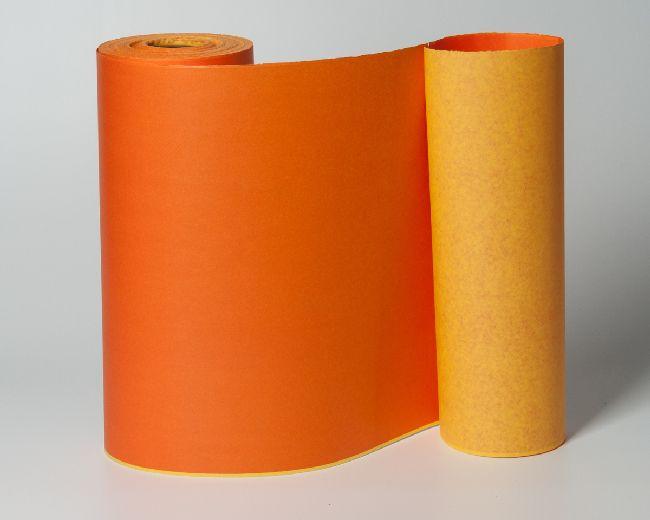 Manschettenpapier ORANGE-GELB inc. Entsorgungsge 25cm  100 Meter