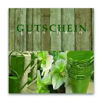 Gutschein Gardening Present 12x12cm  inkl.Umschlag
