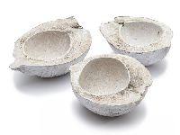 Kokosnuss Hälfte white-wash GZ0230 3 Stück 15-20cm