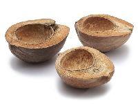 Kokosnuss Hälfte NATUR  GZ0230 3 Stück 15-20cm