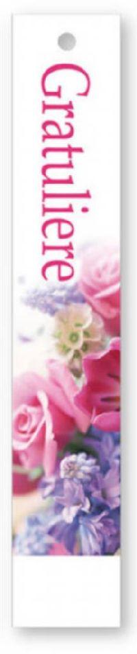 Geschenkkärtchen Gratuliere Lucida - Klappkarte 3x17cm