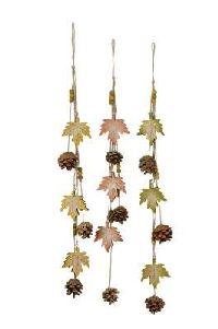 Girlande Herbstlaub 3er-Sortierung  Holz  570533 L=50cm   Blätter=7cm