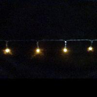 LED Lichterkette mit Timer warmweiss 360cm 1034285 48LED batterieb. In-&Outdoor