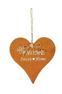 Rostherz Home Sweet Home ROST  521164 17,5cm GL:28cm zum Aufhängen