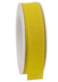 Basicband NATURE gelb 10 biologisch abbaubar B:25mm L:20m Baumwollband 267