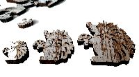Igel Streudeko BRAUN-WEISS 18551 Dicke:0,7cm 3cm 8x + 5cm 6x +7cm 4x Holz