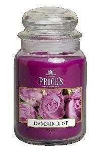 Duftkerze Price´s Candles DAMSON ROSE im Glas Brenndauer: 110-150 h