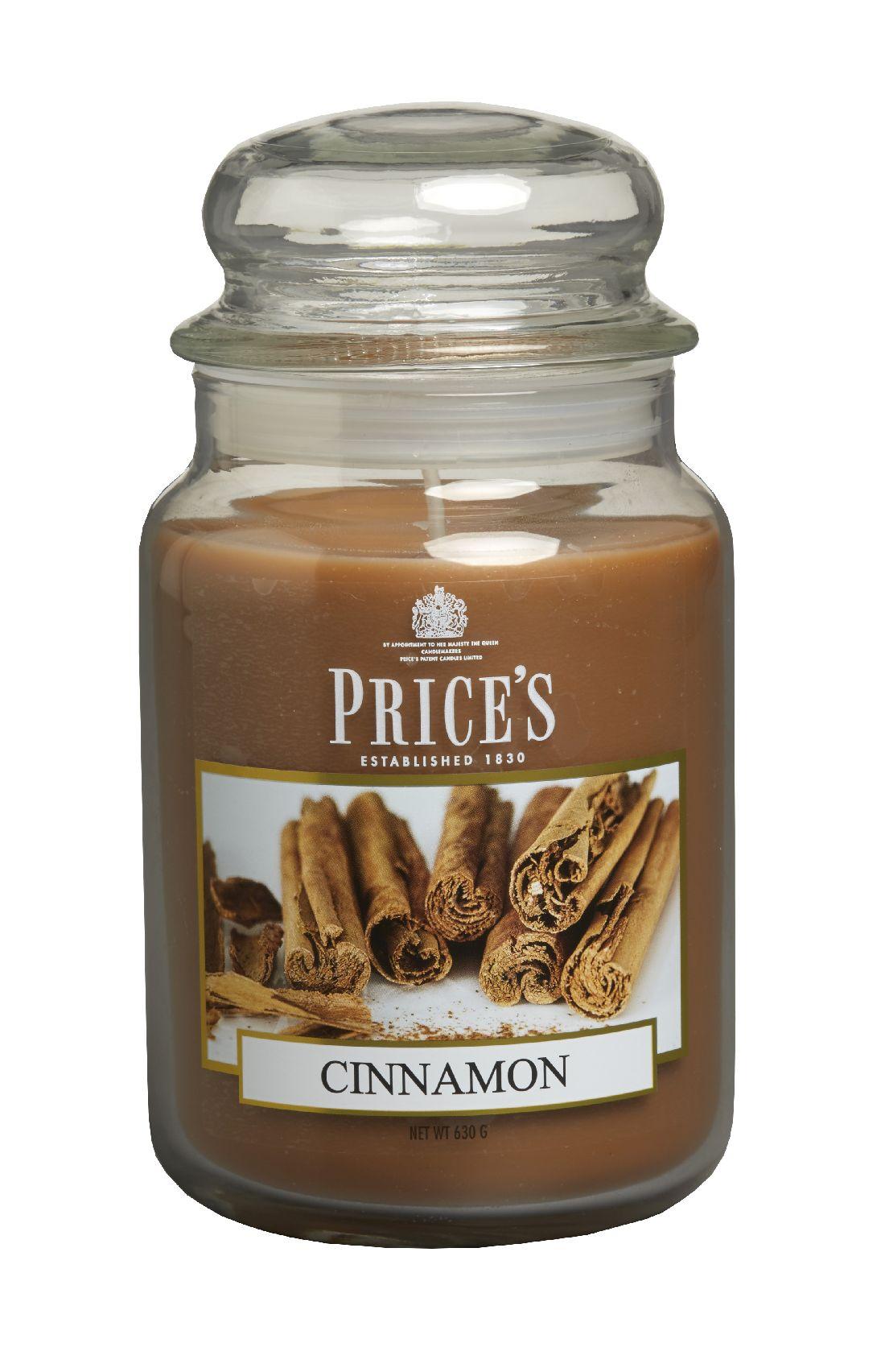 Duftkerze Price´s Candles CINNAMON im Glas Brenndauer: 110-150 h