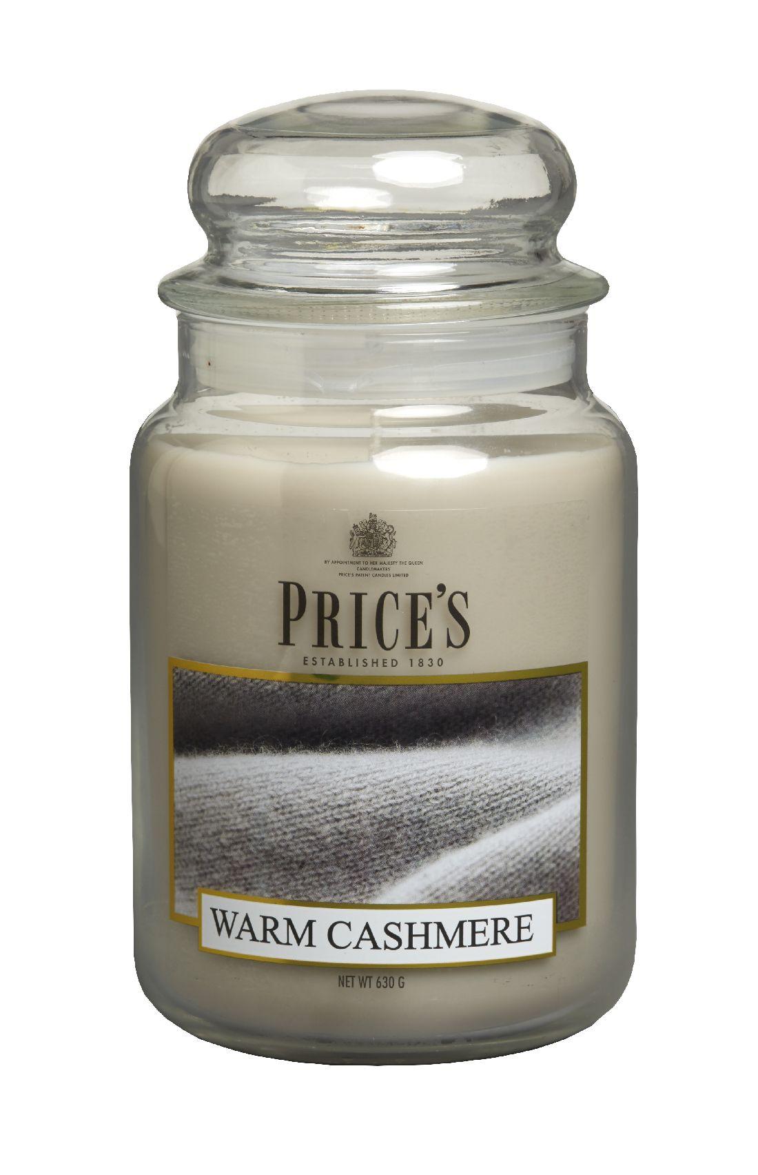 Duftkerze Price´s Candles WARM CASHMERE im Glas Brenndauer: 110-150 h