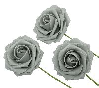 Rose Foam / Schaumrose GRAU  60 Ø7cm  80686