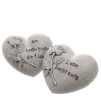 Herz Gedenkherz Liebe Am Ende bleibt die Liebe 10,5x9,5x5cm  Poly 74899
