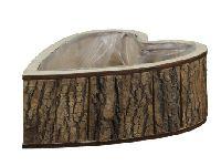 Pflanzherz Rinde NATUR 259401 28,5x23x10cm  Holz mit Foli